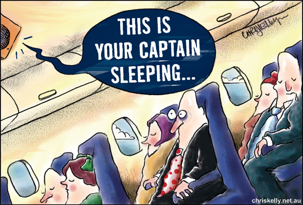 cartoon air safety falling plane pilot fatigue