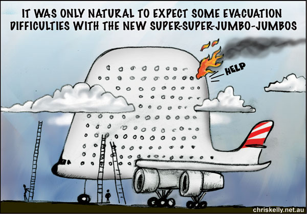 cartoon air safety plane burning outdated procedures