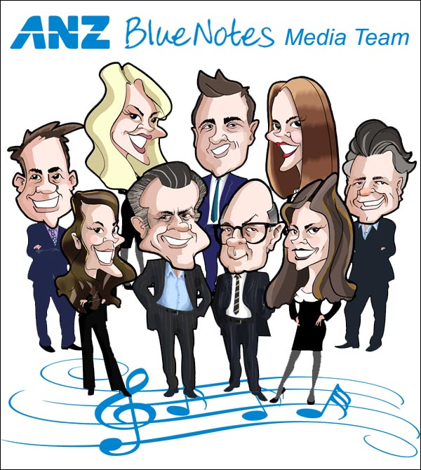corporate executive team caricature celebrate successful project outcome